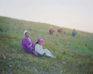 Mongolian women and a girl, 2010