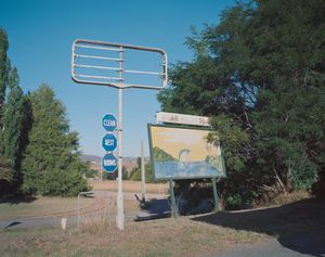 An old service station sign.