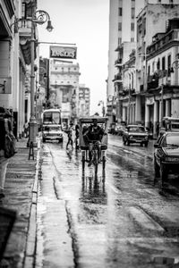 Bicitaxi in Rain - Havana, Cuba