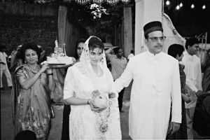 Bride and Parents, Parsi Wedding, Bombay, 1995