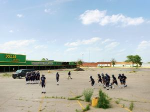 Police Cadet Riot Training, Eastside, Detroit 2012
