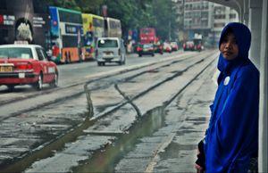 Deep blue in the rain: Jakarta in HK