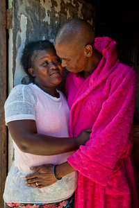 Tham Tham and her husband. Delft Township, South Africa, 2015.