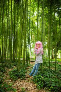 Pink wig little girl #7