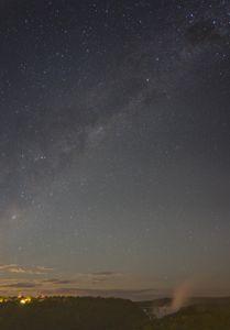 Starry night over Iguazu falls
