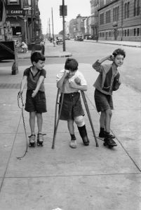 """Three boys. From """"One, Two, Three, More"""" by Helen Levitt. Published by powerHouse Books. Photo credit: Helen Levitt © Film Documents LLC"""