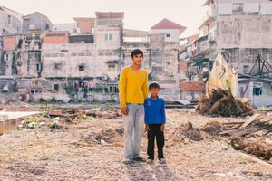 Rin (22) & Heng (8) - Construction Workers (Phnom Penh)