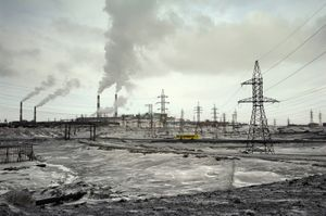 """The """"Big Norilsk"""" is an ensemble of three cities: Norilsk, Talnakh and Kayerkan. They are situated in a radius of 30km and linked by land roads. © Elena Chernyshova"""