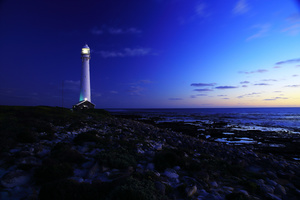 Slangkop lighthouse / The Slangkop lighthouse is the tallest lighthouse on a steel tower in South Africa. It is located on the Cape Peninsula south of Cape Town, close to the small town of Kommetjie.
