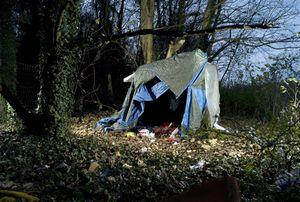 1st prize Contemporary Issues Stories © Jean Revillard, Switzerland, Rezo.ch. Makeshift huts of immigrants, Calais, France.