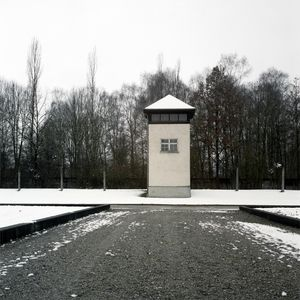 Watch Tower and Electric Fence, Dachau Memorial and Museum