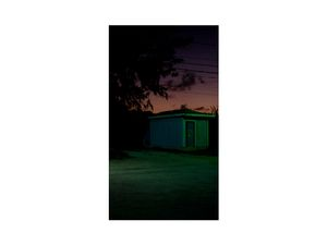 Shimmering neon lights. Rolleville, Exumas.