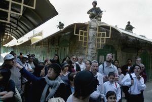 Hebron Market Jewish  tourists 2004