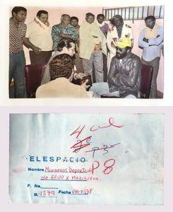 """Marineros deportado deE.U.XMarihuana""""Sailors deported E.U. for marijuana trafficking ""8-II/78 and Back of the original photo"