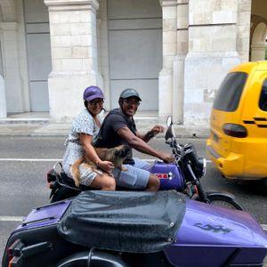 Motorcycle Couple, Old Havana