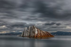 Mediterranean Sky shipwreck...
