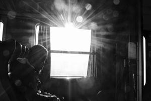 Man in the light