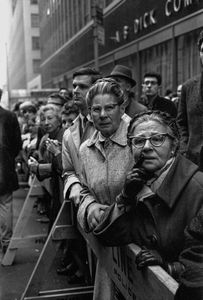 Concerned women along the march route, NYC, 1967