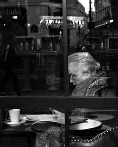 Lady at breakfast