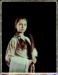 #12, Polish powwow dancer, Portrait taken at the local powwow convention, bleach Fuji Fp100c, negative scan, Uniejow, Poland 2015.