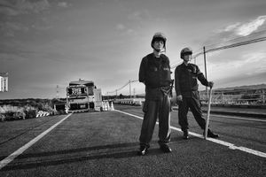 """Check point, from the series Fukushima """"No Go"""" Zone, © Pierpaolo Mittica."""
