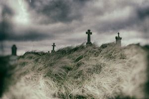 Killaspugbrone Cemetery, Strandhill, Sligo, Ireland.