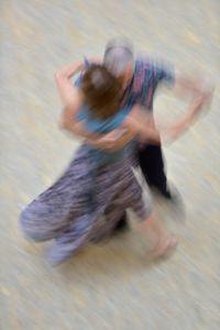 Mall of Berlin, Potsdamer Platz, tango dancers, august 2018, Nr. 4