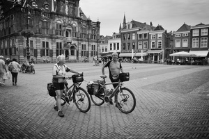 Cyclist couple, Delft, Netherlands