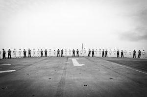 On the USS Wasp, Atlantic Ocean, May 2012