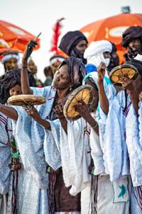 Women drummers - Cure Salée festival in Niger