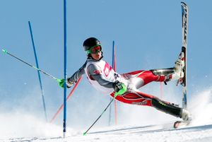 2nd Prize Sports Action Single. Competitor at a slalom contest in Szczyrk, Poland © Andrzej Grygiel, Poland, for PAP-Polska Agencja Prasowa
