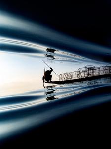 Fisherman On Inle Lake (Myanmar)
