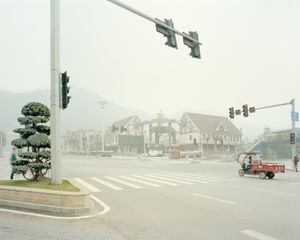 Parc d'attraction fermé en hiver, Chongqing. Chine, Décembre 2017