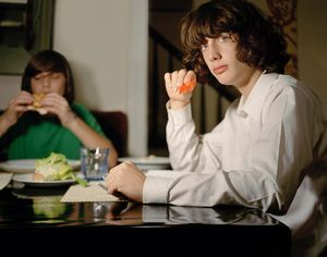 Nicolas and Adrien Dining from Teen Tribe© Martine Fougeron