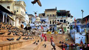 Sacred Bathing Ghat, Pushkar.