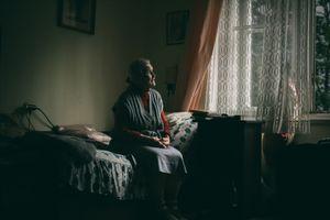 In her bedroom