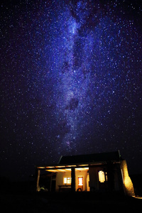 Nightfall/The nightfall above a little house in the Klein Karoo, South Africa