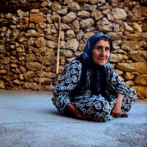 A Kurdish woman from Zhiwar village ,Hawraman Takht ,Kurdistan province of Iran
