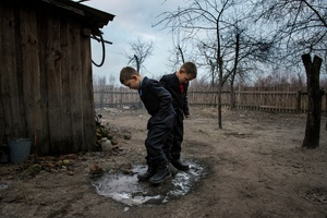 Vladik, 7 years old and Igor, 6 years old, live in Radinka, one of the most contaminated village around the Chernobyl exclusion zone.