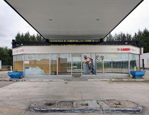 """Station #15, from """"Twentysix Abandoned Gasoline Stations"""" © Eric Tabuchi"""