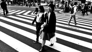 Girls Cross The Street