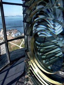 Second Order Fresnel Lens atop Boston Light, Boston Harbor, MA