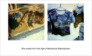 """She reread """"Art in the Age of Mechanical Reproduction."""""""