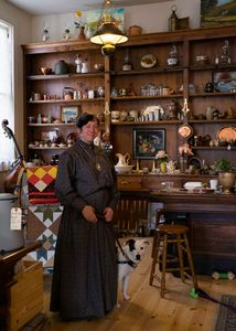 The owner of a cosy shop in historical  Columbia, CA.