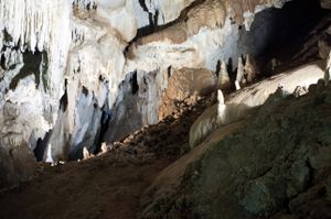 'Down the Rabbit Hole' - Grotte is Zuddas, Santadi, Sardinia, Italy © Mireille Schellhorn 2012