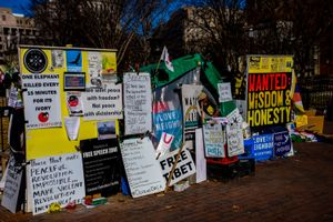 Protest Signs In Washington, DC
