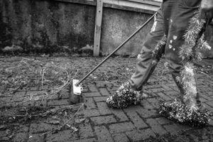 Everyone did their chores in their own inimitable fashion.