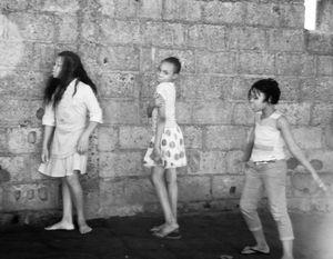 Dancing Girls in Maputo Slum, Maputo, Angola