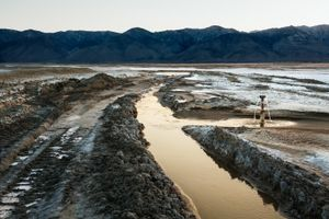 LADWP Shallow Flood Irrigation Ditch, Owens Lake, CA