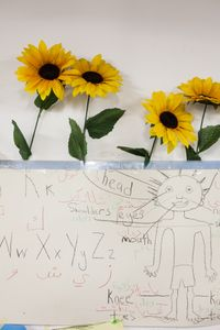 child's drawing at refugee camp Pikpa, Lesbos